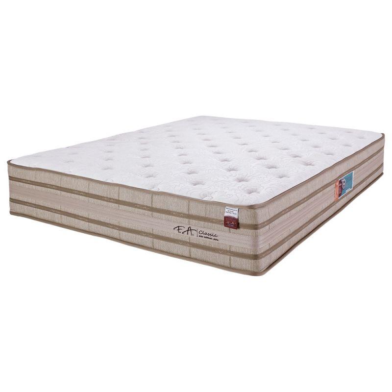 Colchão Casal 138x188x33cm Molas Ensacadas em Malha Pillow Duplo Classic - FA Colchões