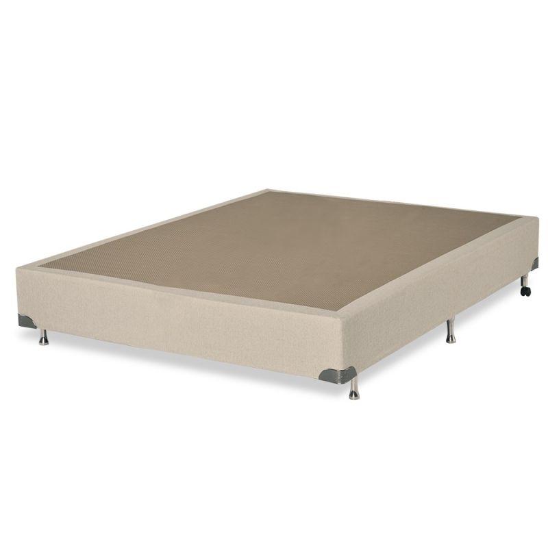 Box Para Colchão bege Casal 138x188x38cm Plus - FA Colchões