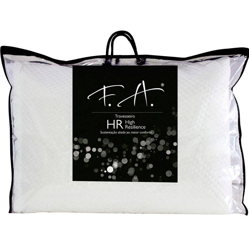 Travesseiro Premium HR High Resilience Alto Suporte Antialérgico 50x70cm - Fa Colchões