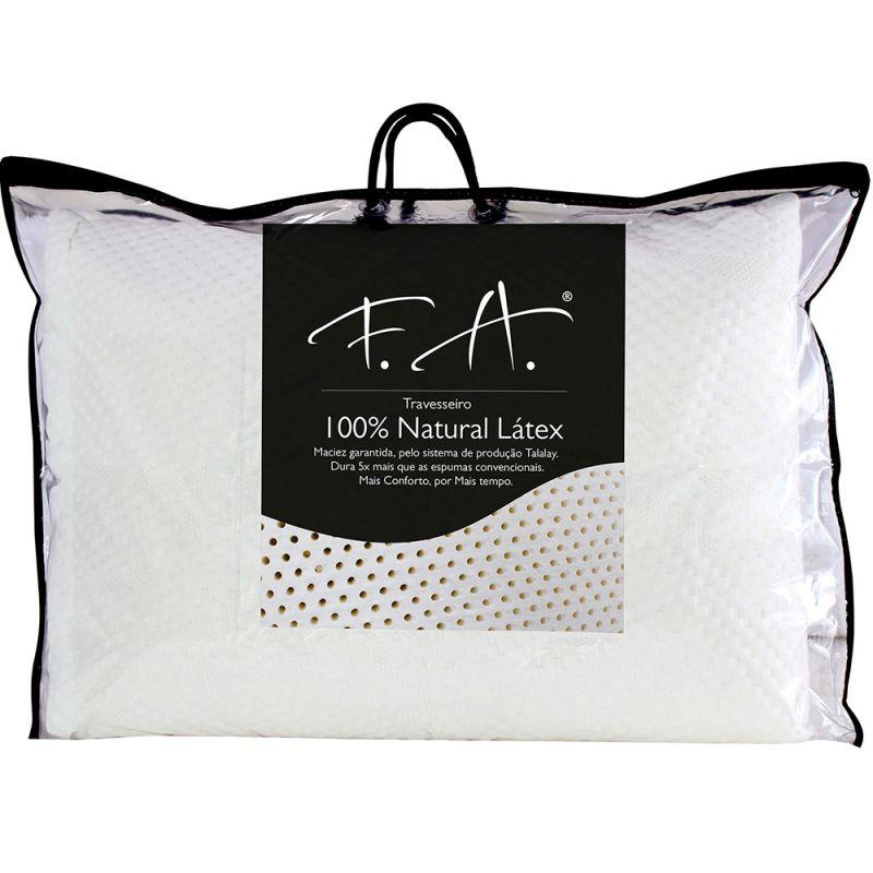 Travesseiro de Latex 100% Natural antialérgico 50x70cm Max Recovery - FA Colchões