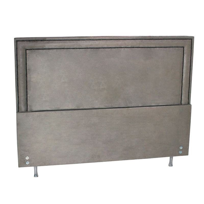 Cabeceira Estofada Para Cama Box King Suede 197x127cm  - FA Colchões