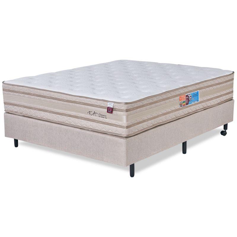 Cama Box Colchão Casal 138x188x72cm Molas Ensacadas em Malha Pillow Duplo Classic - FA Colchões