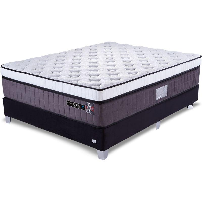 Cama Box Colchão Casal 138x188x75cm Molas Ensacadas Espuma Viscoelástica - Zhu Premium - FA Colchões