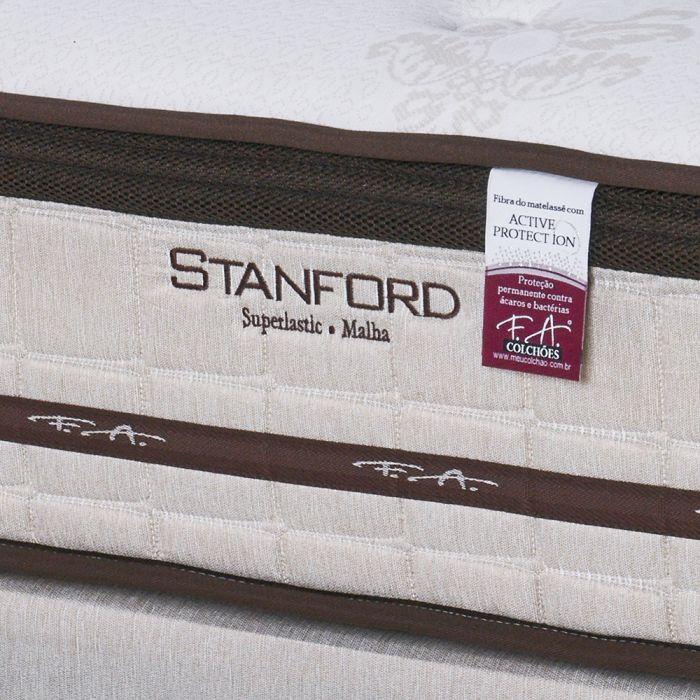 Cama Box Colchão Queen 158x198x69cm Superlastic Malha de viscose Stanford - FA Colchões