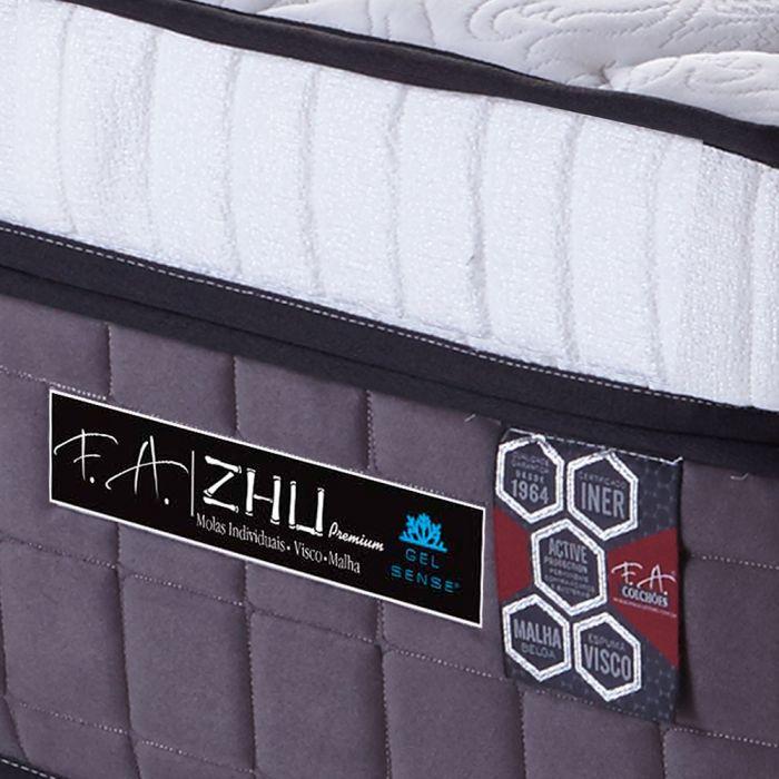 Colchão King 193x203x40cm Molas Ensacadas Espuma Viscoelástica - Zhu Premium - FA Colchões
