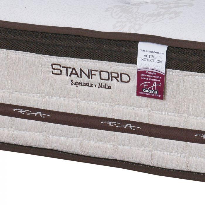 Colchão King 193x203x30cm Superlastic Malha De Viscose Stanford - FA Colchões