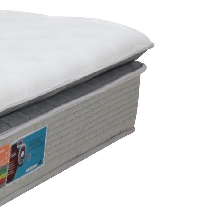 Colchão Solteiro 88x188x36cm Látex e SoftGel Molas Ensacadas Tecido Seaqual - Legend - FA Colchões