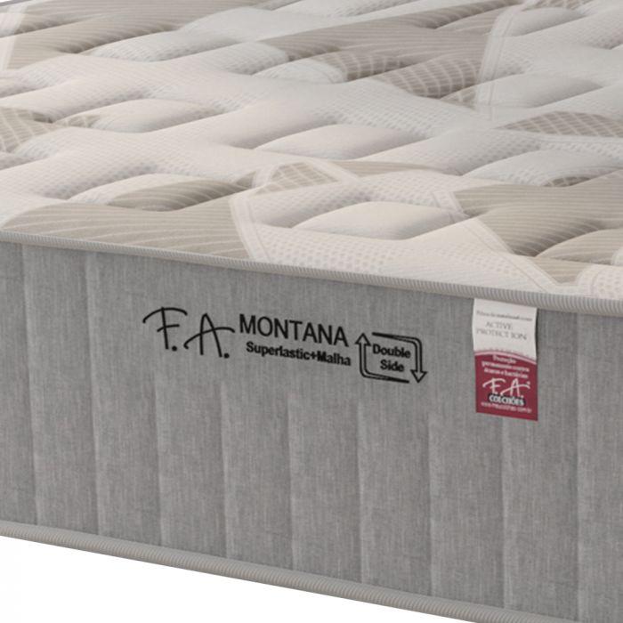 Colchão Queen 158x198x30cm Molas Superlastic em Malha Pillow Duplo Montana - FA Colchões