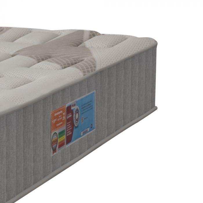 Colchão Solteiro 88x188x30cm Molas Superlastic em Malha Pillow Duplo Montana - FA Colchões