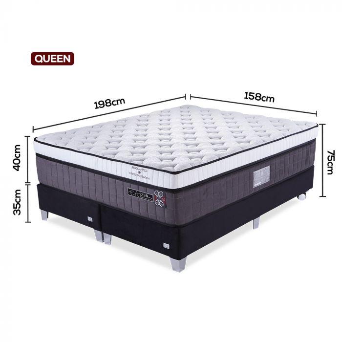 Cama Box Colchão Queen 158x198x75cm com Vibromassagem - Zen Premium - FA Colchões